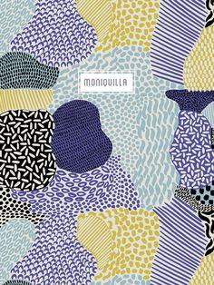 Moniquilla. Diseño de estampados - pattern design. http://moniquilla.com/pattern-design/