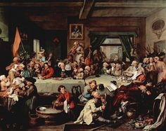 An Election Entertainment, William Hogarth (1755)