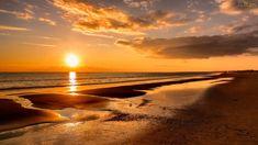 pôr-do-sol   Papel de Parede Pôr do Sol na Praia - 1920x1080