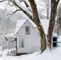 Cottage in the snow