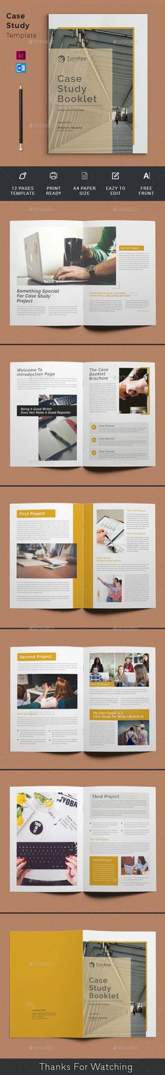 Buy Case Study Booklet by telaarte on GraphicRiver. Case Study Brochure Case Study Brochure Template suitable for presenting your case studies in a professional way. Case Study Template, Booklet Template, Page Template, Print Templates, Brochure Template, Printed Portfolio, Graphic Design Brochure, Change Image, Paper Size