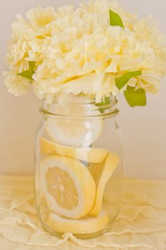 Gorgeous floral centerpiece with lemons