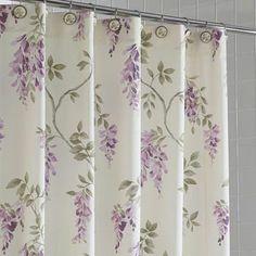 Short Description Wisteria Shower Curtain 100 % Cotton Available In .