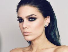 【ρinterest: LizSanez✫☽】 half matte, half shimmery - Linda Hallberg Makeup