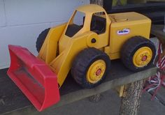 "20"" Huge Little Tikes Yellow Front End Loader Swivel truck tractor Toy Construct #Littletikes"