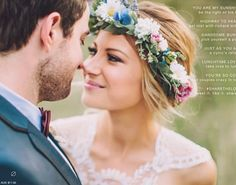 My flower crown wedding hair up do