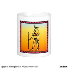 Egyptian Hieroglyphics Mug #Egyptian #Egypt #Hieroglyphics #Coffee #Tea #Mug