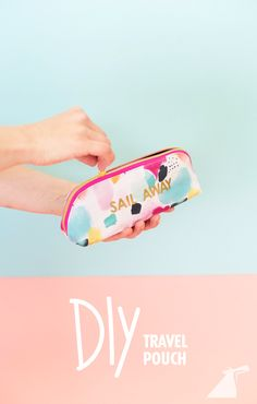 Here's how to make a totes cute travel pouch for your next Carnival cruise. (Spoiler alert: gold vinyl is involved.)