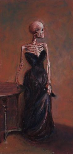 Madame X-Ray is a parody by Marie Marfia of a famous work by John Singer Sargent. Cards, prints and canvas wraps are available in my shop. Skeleton Art, Skeleton Makeup, Skull Makeup, Arte Obscura, Psychedelic Art, Art Drawings Sketches, Surreal Art, Pretty Art, Aesthetic Art