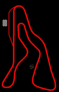 Second Creek Raceway Track Layout - one of the race tracks I practically grew up on, watching my Dad race