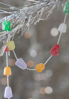 Gum-Dropping Hints Garland, #ModCloth. I have another gumdrop garland, this would be so cute with it!
