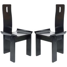1970s Four Chairs Attributed to Scarpa   From a unique collection of antique and modern chairs at https://www.1stdibs.com/furniture/seating/chairs/