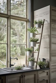 SATSUMAS plantenstandaard met 5 potten | #IKEA #IKEAnl #bamboe #staal #urbanjungle #planten #kruiden