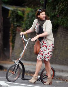 TV presenter Kirstie Allsopp has shed two stone thanks to a new diet and exercise regime, and it also seems she has decided to keep fit by riding on an adult scooter in her spare time. Kirstie Allsopp Dresses, Tv Presenters, Stay In Shape, Keep Fit, Love Her, Shed, Curvy, Female, Lady