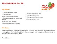 Strawberry Salsa! YMCA Farmers Market June 19, 2014