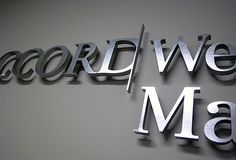 OFFICE DESIGN 3D SIGNS, Wall mirror office 3d sign, donor wall sign