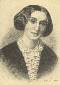 George Eliot from a painting by D'Albert-Durade, made when the novelist was thirty years of age #barbaraehrentreu