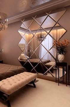 Home Room Design, Home Interior Design, Living Room Designs, Modern Luxury Bedroom, Luxurious Bedrooms, Luxury Bedroom Design, Modern Master Bedroom, Mirror Decor Living Room, Bedroom Furniture Design