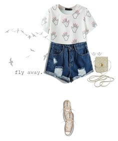 """""""Fly Away"""" by iolitte ❤ liked on Polyvore featuring DOMESTIC, Converse, Louis Vuitton and Pamela Love"""
