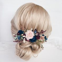 Wedding Hair Accessories Excited to share this item from my shop: Fall flower hair comb wedding, Winter Burgundy hair piece Wedding Hair Clips, Wedding Hair Pieces, Winter Wedding Hair, Floral Wedding Hair, Wedding Navy, Burgundy Wedding, Wedding Stuff, Wedding Ideas, Flower Hair Pieces