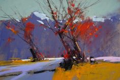 Winter scene NZ - Tony Allain PSA - Island Fine Arts