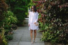 hey pretty thing: Classic White Oxford Shirtdress
