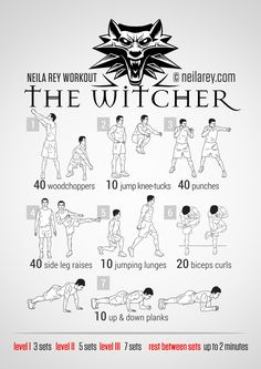Witcher Workout | neilarey.com | #fitness #bodyweight