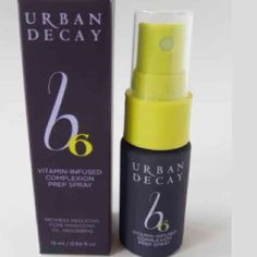b6 spray New in box Urban Decay . Vitamin infused complexion prep spray . Deluxe trail size Urban Decay Makeup Face Primer