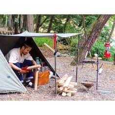 +++ デイキャンプ⛺️ 貸切状態でのんびり過ごせました #キャンプ #デイキャンプ #焚火 #焚火台 #パップテント #軍幕 #us #秘密基地 #キャンプ飯 #snowpeak #s2w8 #coleman #stanley #camp