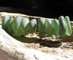 Sea Glass Beads Green Authentic Surf Tumbled by KreationsfromKaos