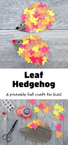 Just in time for autumn, learn how to make the cutest fall hedgehog craft with paper leaves, paint, and pompoms. This easy fall craft includes a printable hedgehog template, making it perfect for home or school. #hedgehog #leafhedgehog #fall Easy Fall Crafts, Fall Crafts For Kids, Paper Crafts For Kids, Toddler Crafts, Preschool Crafts, Projects For Kids, Fun Crafts, Art For Kids, Preschool Learning
