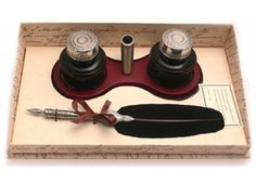 Feather Quill & Ink Holder Set | Can be personalised | Calligraphy Set