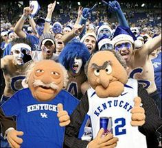 The old guys at a U of K game! For my grandma and fellow uk fans ;p