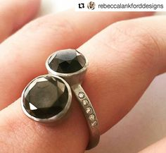 Now available in our online store! #Repost  Rebecca Lankford Find this stunning black diamond bypass ring at the Houston Museum of Natural Science! ❤