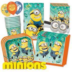 Minionsparty | Minions PartyBox Für Mottoparty U0026 Geburtstag Party Set  (Premium Für 8 Gäste