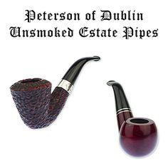 A Choice Assortment of Unsmoked Peterson Pipes Now Available on Our Estate Pipe Page! ~  It's a rare day that a nice assortment of unsmoked Peterson of Dublin estate pipes falls into our lap, so we're particularly excited to share it with you. We should note these pipes are not in mint condition, but they're pretty darn close. Take your pick from Peterson Donegal Rocky, Killarney, and System Standard Rustic pipes soon because they won't be around for long!