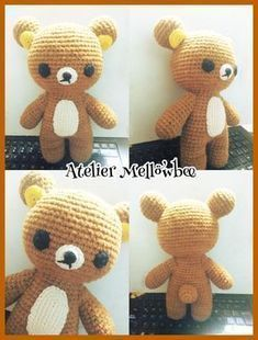 Blog de amigurumis y patrones. Quick Crochet Patterns, Crotchet Patterns, Amigurumi Patterns, Cute Crochet, Crochet Dolls, Knit Crochet, Rilakkuma, Pattern Library, Crochet Animals