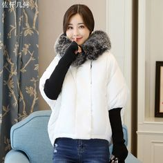 Parkas Women Coats 2017 New Design Winter Female Fur Collar Jackets Fashion Warm Hoodies Casual Cotton Outwear Coat High Quality * AliExpress Affiliate's buyable pin. Click the image to find out more on www.aliexpress.com