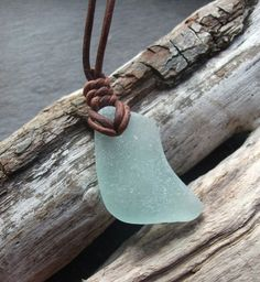Light Aqua Sea Glass Necklace Scottish by byNaturesDesign on Etsy, $12.00