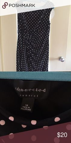 Knee length polka dot dress Below the knee black and pale pink polka dot dress Dresses