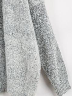 grey knit cardigan <3