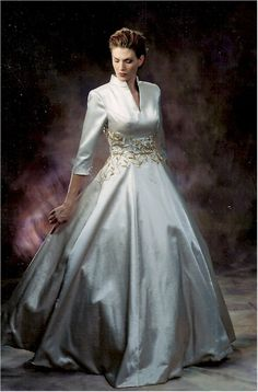 Style B2028 - Formal Ball Gowns with Three Quarter Sleeves