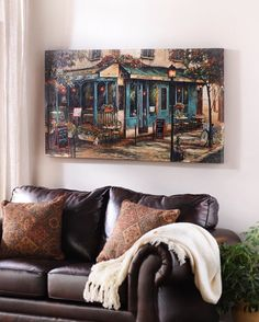 Who doesn't want to be at an adorable corner cafe in a European city? Take yourself there with our #canvasart print, now on sale for just $39.98! Click the link in our profile to buy this piece and many more, all on sale. #myKirklands #artsale #wallart #walldecor