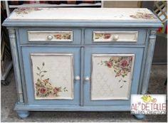 Mobili per decoupage – Recycled Furnitures Ideas Art Furniture, Furniture Update, Decoupage Furniture, Refurbished Furniture, Repurposed Furniture, Furniture Makeover, Painted Furniture, Sewing Room Decor, Diy Interior