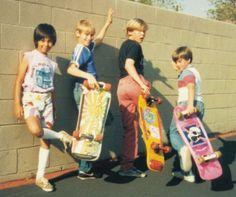 80's kids skateboarding   Skateboards   Skating stuff