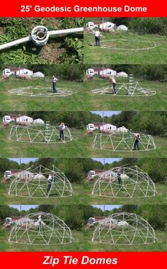 Purchase a 25 foot Standard Geodesic Dome Greenhouse Kit, easy to set up and no tools are required. Geodesic Dome Greenhouse, Geodesic Dome Homes, Small Greenhouse, Greenhouse Wedding, Greenhouse Plans, Bubble Tent, Dome Structure, Diy Toy Storage, Dome Tent