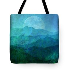 Mountain Tote Bags - Moonlight Hills Tote Bag by Gary Grayson