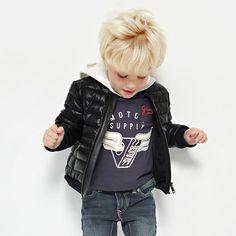 Guess - Black Imitation Leather Jacket |