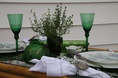 The Tablescaper's Herbal Luncheon Tablescapes, Herbalism, Table Decorations, Summer, Furniture, Home Decor, Herbal Medicine, Summer Time, Decoration Home