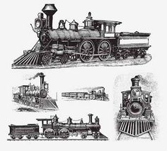 TRAINS - http://freepicvector.com/trains/